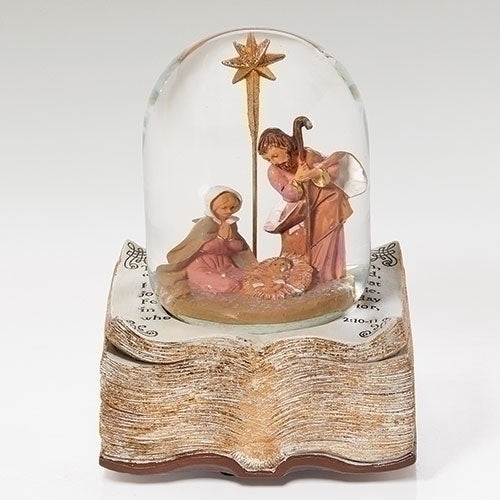 "Fontanini 8"" H Musical Holy Family Dome On a Bible Base Plays ""O Holy Night"" #59095"