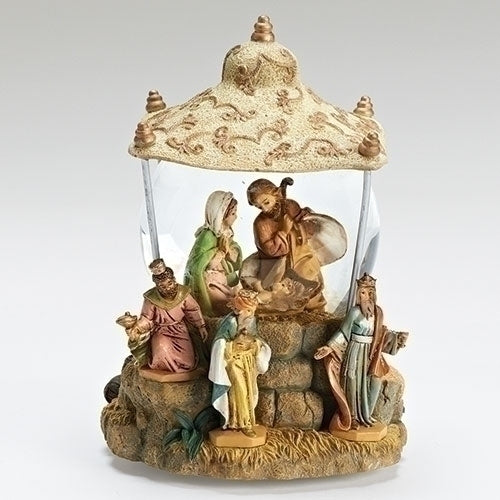 "Fontanini Musical Wind UP Nativity Snow Globe Plays ""We Three Kings"" # 59082"