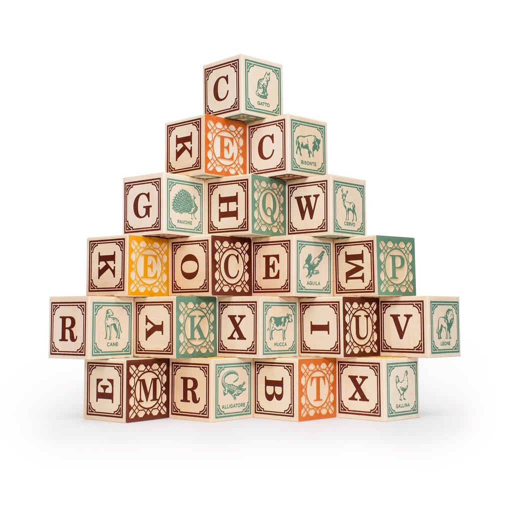 Italian Alphabet Blocks