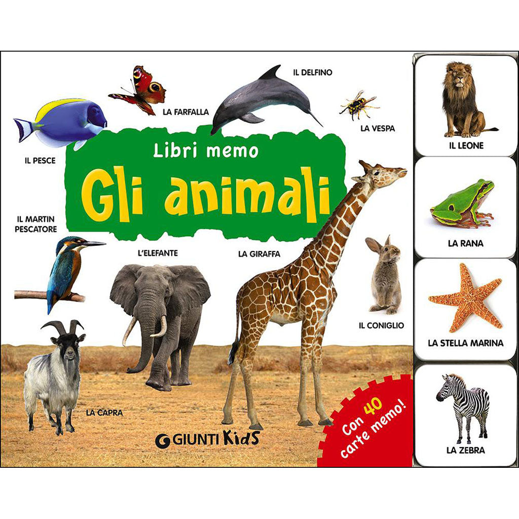 Gli Animali picture book and matching game