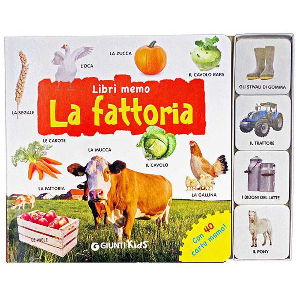 La Fattoria (The Farm) picture book and matching game