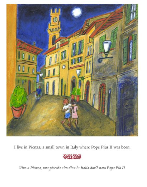 Pizza in Pienza by Susan Fillion-Bilingual Italian-English