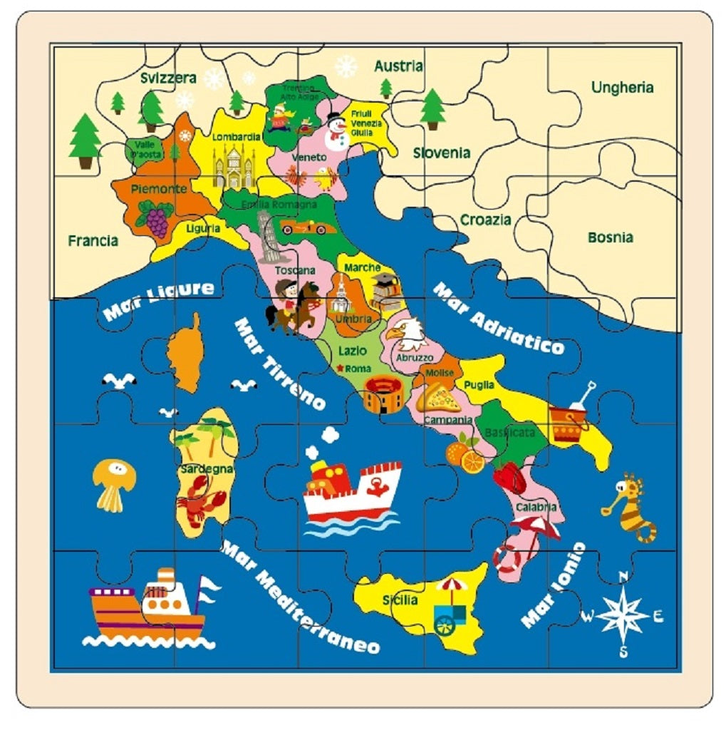 Images Of Map Of Italy.Wooden