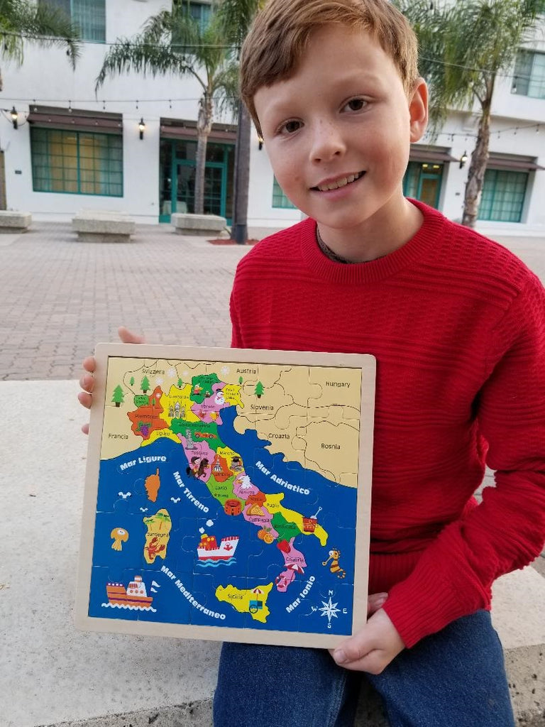 "Wooden ""Italy"" Map Puzzle"