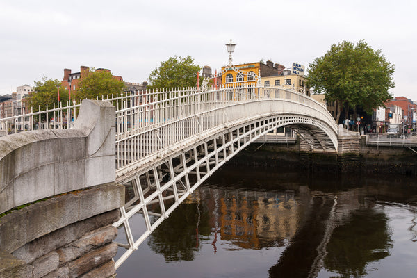 Ha'Penny Bridge in Dublin, Ireland.