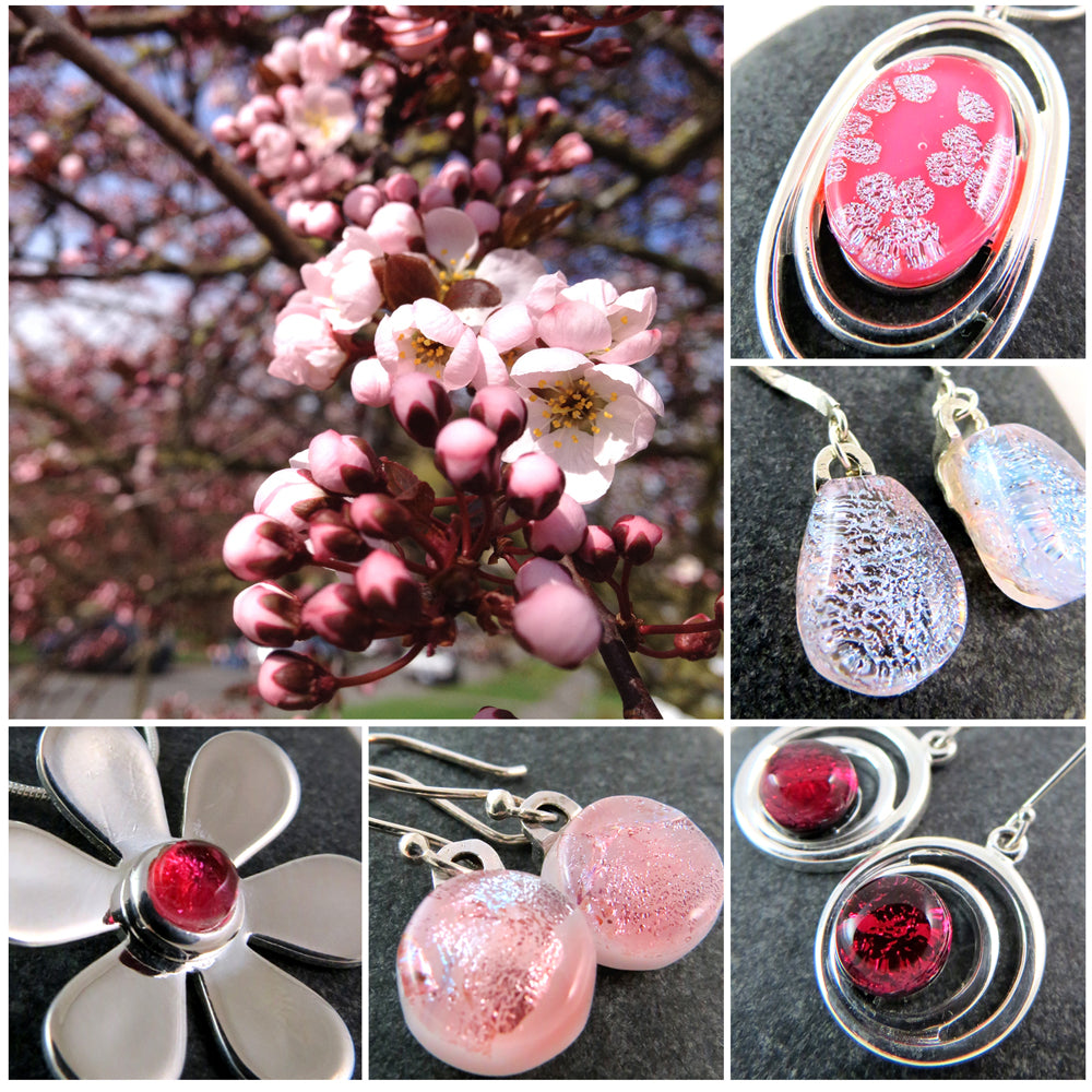 Gorgeous pinks inspired by the flowering plum tree in our front yard.