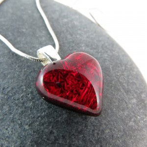 Be Mine Fused Glass Necklace