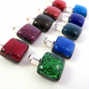 All the colors of the rainbow in simple, modern colorful pendants!