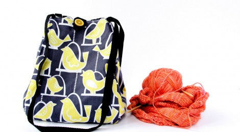 Reversible Knitting Project Bag by Chubby Cloud