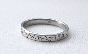 Delicious  Cuts stacking ring  from Rain City Forge