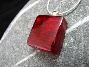 Original Modern Red Square Necklace