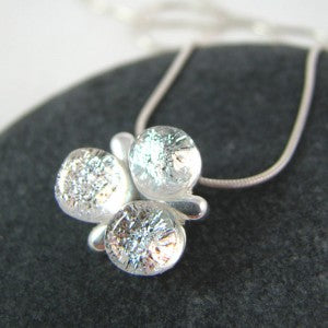 Petite  Trinity Necklace   is small but mighty in the sparkle department.