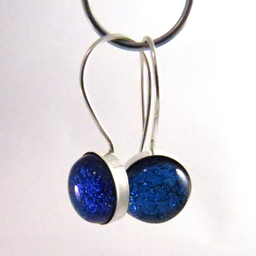 bright blue hoop earrings teardrop zircon