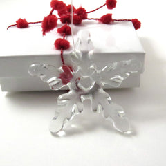 Glass Star Christmas Tree Ornament - Clear