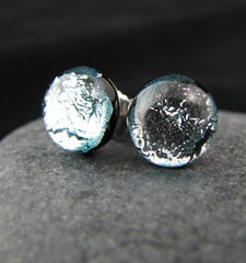 Icey Silver Post Earrings