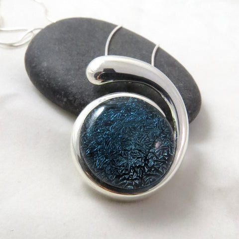 Ebb & Flow - Jean Blue Silver and Glass Necklace