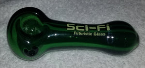 "4"" Sci-Fi Glass Solid Colors Tube Pipe"