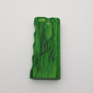Large green wood dugout with single side grip