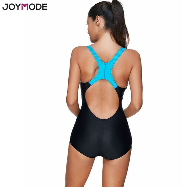 JOYMODE Sport Swimsuit One Piece Monokini Women Hollow Black Bathing Suit 3XL Padded Swimwear Bodysuit Bikini Una Pieza Jumpsuit