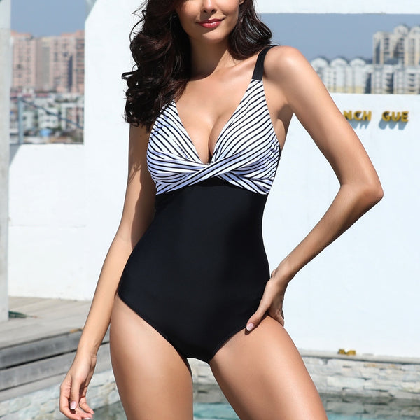 Sexy 2019 One Piece Swimsuit Women Solid Swimwear Female High Waist Beachwear Bathing Suit Summer Swimsuit Monokini Beachwear#es