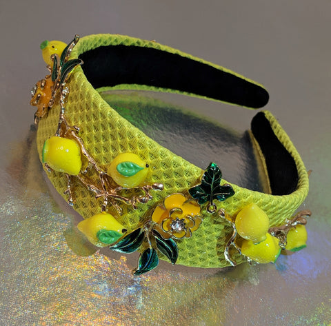 Capri citrus lemon headband