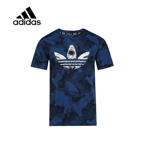 Original New Arrival Authentic Adidas Mens T-shirts Short Sleeve Sportswear