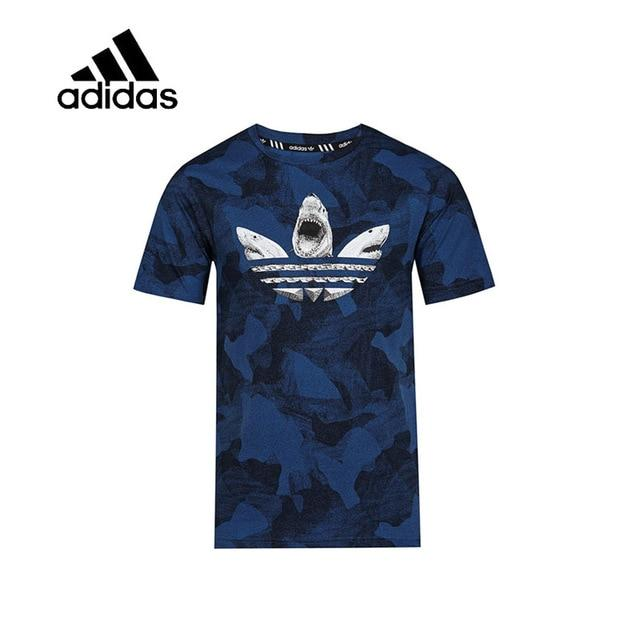 Original New Arrival Authentic Adidas Mens T-shirts Short Sleeve Male Blue Leisure Sportswear Breathable Quick Dry Shirt