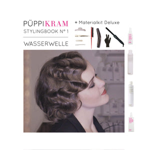Wasserwelle Ebook tutorial DIY Kit Hairstyling