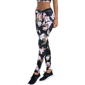 Yoga Pants Fitness Sport Floral