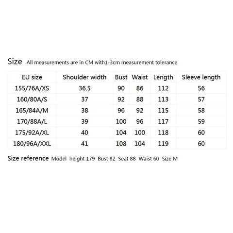 European Size Guide