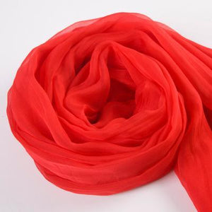 Her Shop accessories Red / 200CMX140CM 100% Natural Silk Long Georgette Scarf