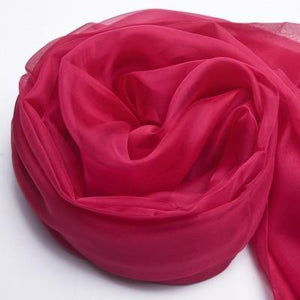 Her Shop accessories Rose / 200CMX140CM 100% Natural Silk Long Georgette Scarf