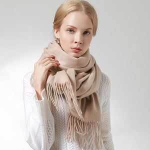 Her Shop accessories Beige / 180x60cm 100% Pure Wool Scarf
