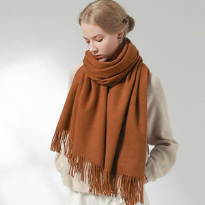 Her Shop accessories Caramel / 180x60cm 100% Pure Wool Scarf