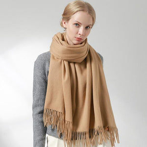 Her Shop accessories Camel / 180x60cm 100% Pure Wool Scarf