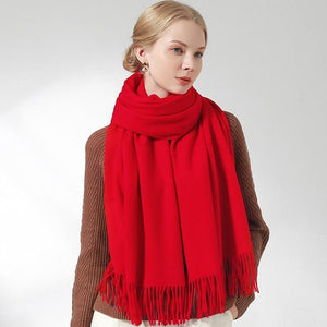 Her Shop accessories Red / 180x60cm 100% Pure Wool Scarf