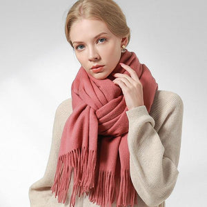 Her Shop accessories Cameo Pink / 180x60cm 100% Pure Wool Scarf
