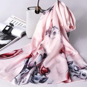 Her Shop accessories Color 3 / 170X53CM 100% Real Silk Scarf