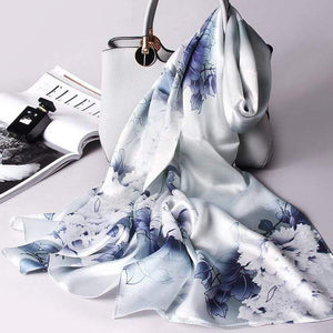 Her Shop accessories Color 2 / 170X53CM 100% Real Silk Scarf