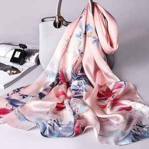 Her Shop accessories Color 5 / 170X53CM 100% Real Silk Scarf