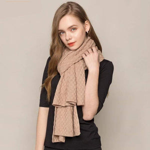 Her Shop accessories Camel / 188x56cm 85% Silk 15% Wool Cashmere Women's Warm Long Scarves
