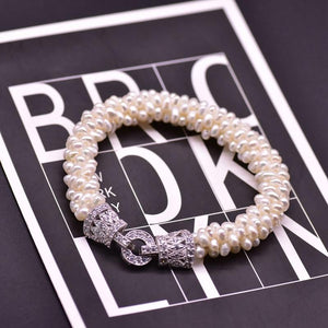 Her Shop accessories Angle Natural Freshwater White Pearl Bracelet For Women