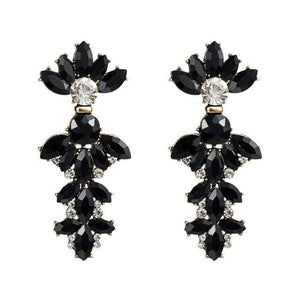 Her Shop accessories Black 1 Colorful Rhinestone Geometric Charms Drop Dangle Earrings for Women Fashion Jewelry Boho Maxi Crystal Statement Earrings