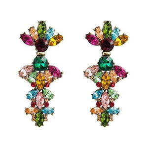 Her Shop accessories Colorful 1 Colorful Rhinestone Geometric Charms Drop Dangle Earrings for Women Fashion Jewelry Boho Maxi Crystal Statement Earrings