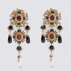 Her Shop accessories 2 Crystal Long Earrings For Women