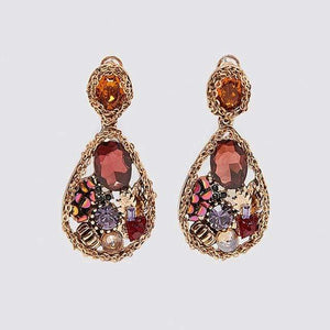 Her Shop accessories 3 Crystal Long Earrings For Women