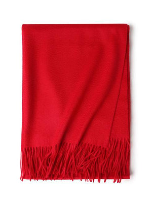 Her Shop accessories Red Hot Sale All-Match Men Women Solid Color Luxurious Elegant Cashmere Scarves With Tassel