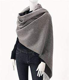 Her Shop accessories Dark gray Hot Sale All-Match Men Women Solid Color Luxurious Elegant Cashmere Scarves With Tassel