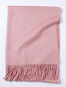 Her Shop accessories Pearl pink Hot Sale All-Match Men Women Solid Color Luxurious Elegant Cashmere Scarves With Tassel
