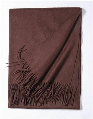 Her Shop accessories Dark coffee Hot Sale All-Match Men Women Solid Color Luxurious Elegant Cashmere Scarves With Tassel